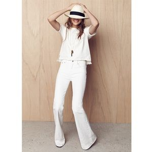 Madewell NWT Flea Market Flare Jeans In White 26